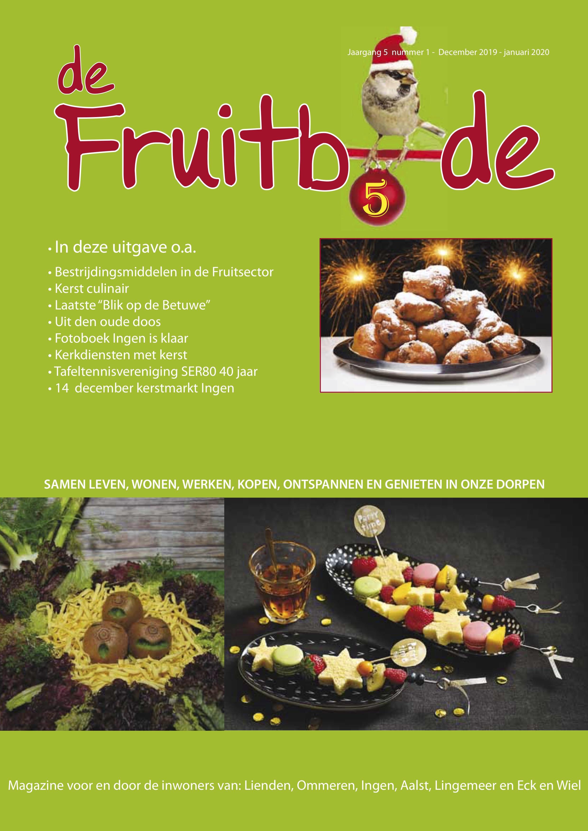 Fruitbode september – december 2019