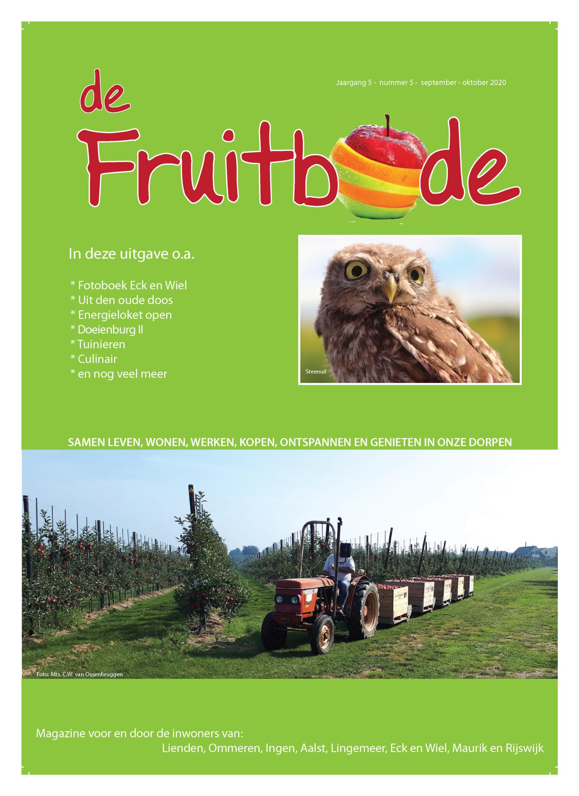 Fruitbode september – oktober  2020